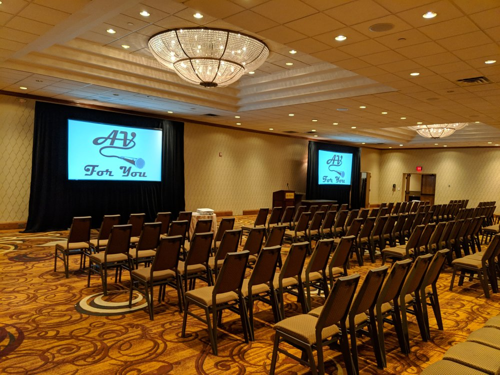 Picture of AV for You projector and screen rental at the Sheraton Mpls West Hotel