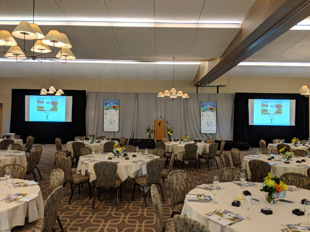 Picture of AV for You rental equipment for event at Hazeltine National Golf Club