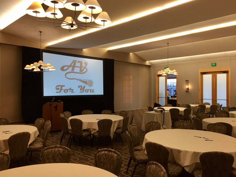 Picture of AV for You projector and screen rental at Hazeltine National Golf Club