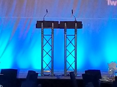 Picture of AV for You double truss podium available to rent