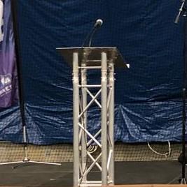 Picture of AV for You truss podium for rent