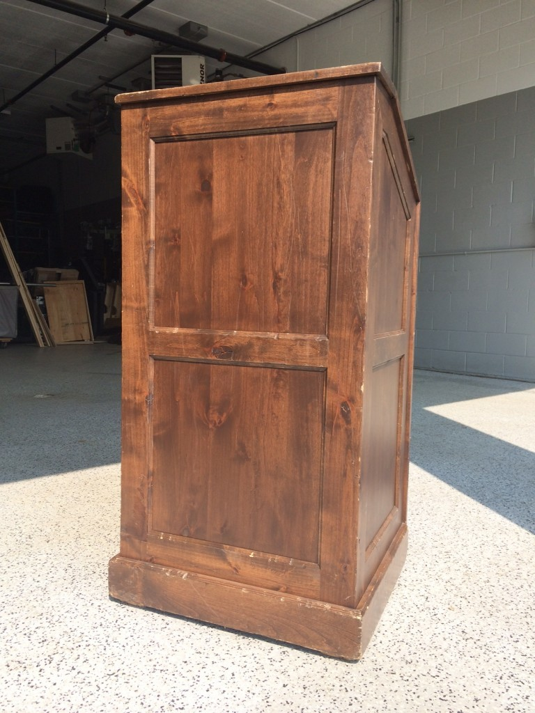 Picture of AV for You classic wood podium available to rent