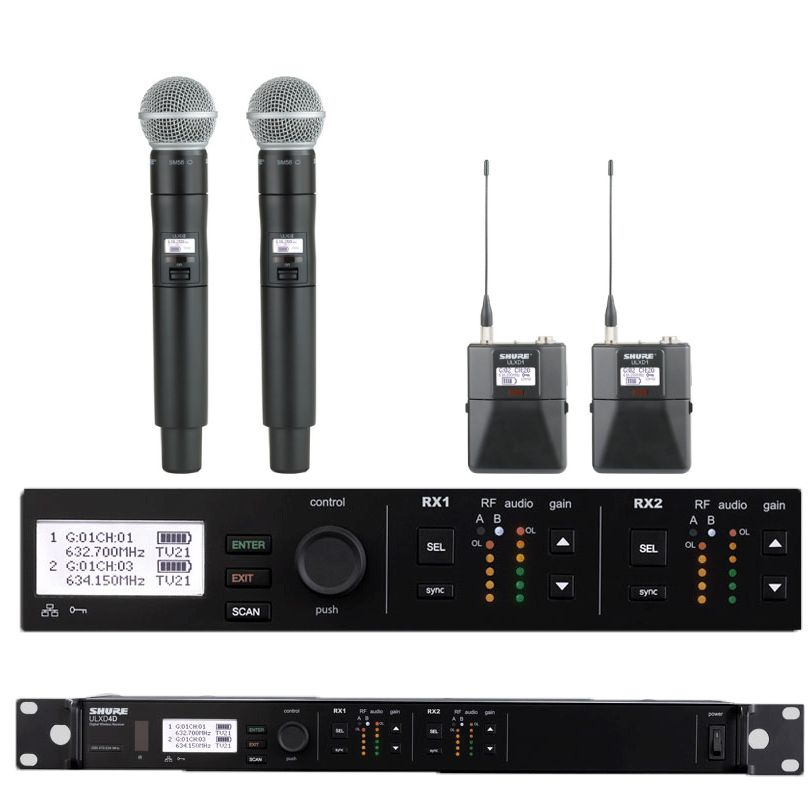 Picture of AV for You Shure ULX D4D Combo Kit available to rent