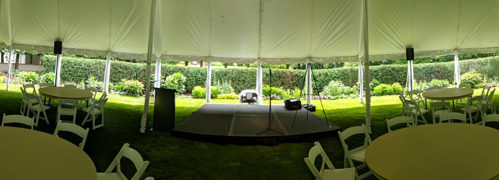Picture of AV for You sound system rental at a Long Lake Tent Event