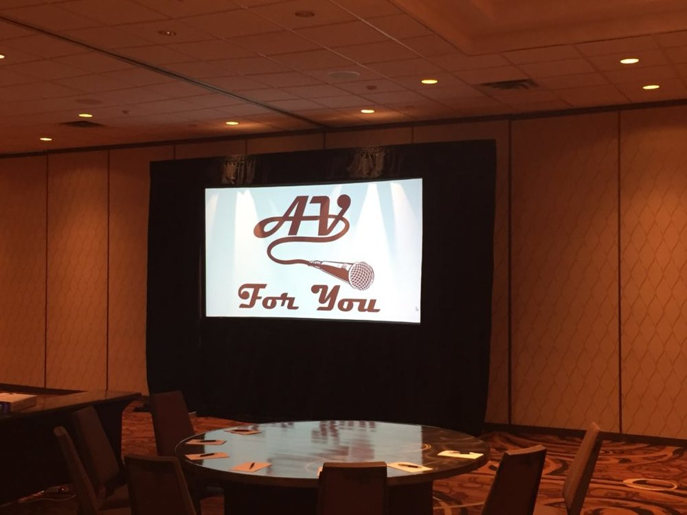 Picture of AV for You 5.6' x 10' Fastfold screen with drape rental