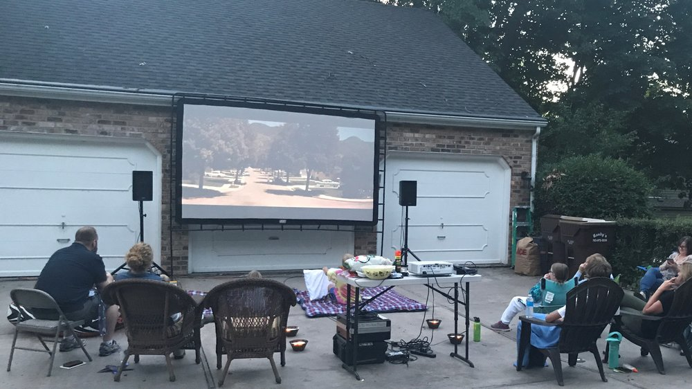 Picture of AV for You outdoor movie screen rental