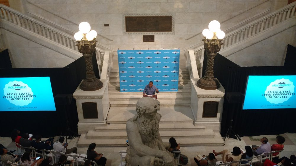 Picture of AV for You projector and screen rental at City Hall Rotunda