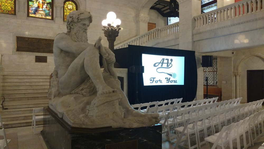 Picture of AV for You audio rental at City Hall Rotunda