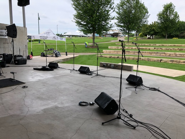 Picture of Av for You microphone rental for the MN Scottish Fair