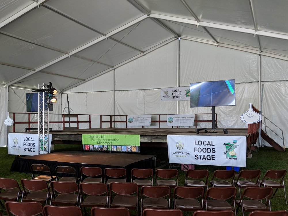 Picture of AV for You Video, Lighting and Staging rental equipment at the Garlic Festival