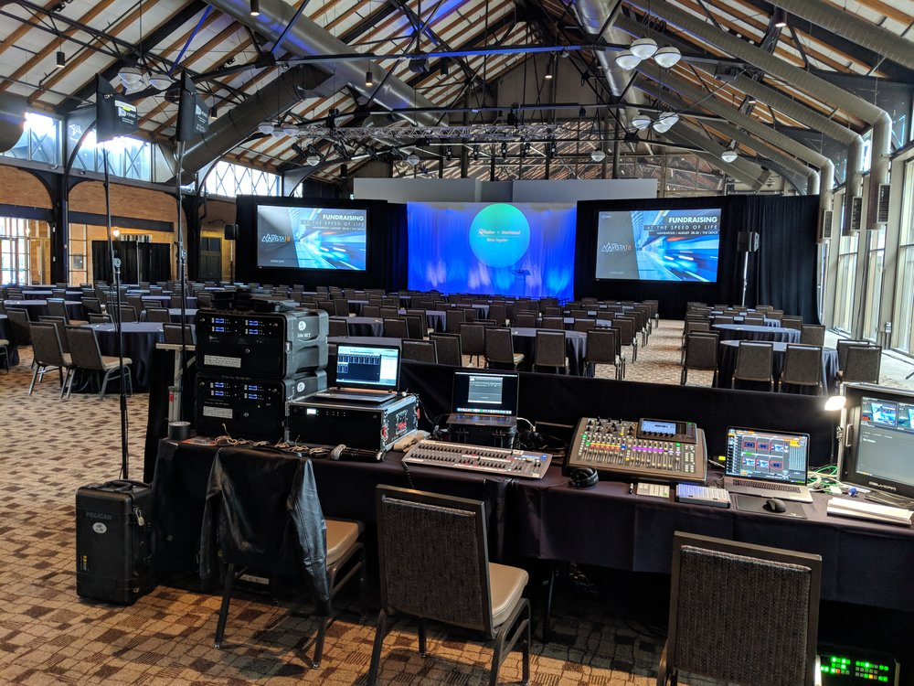 Picture of AV for You event equipment rental at The Depot in Minneapolis
