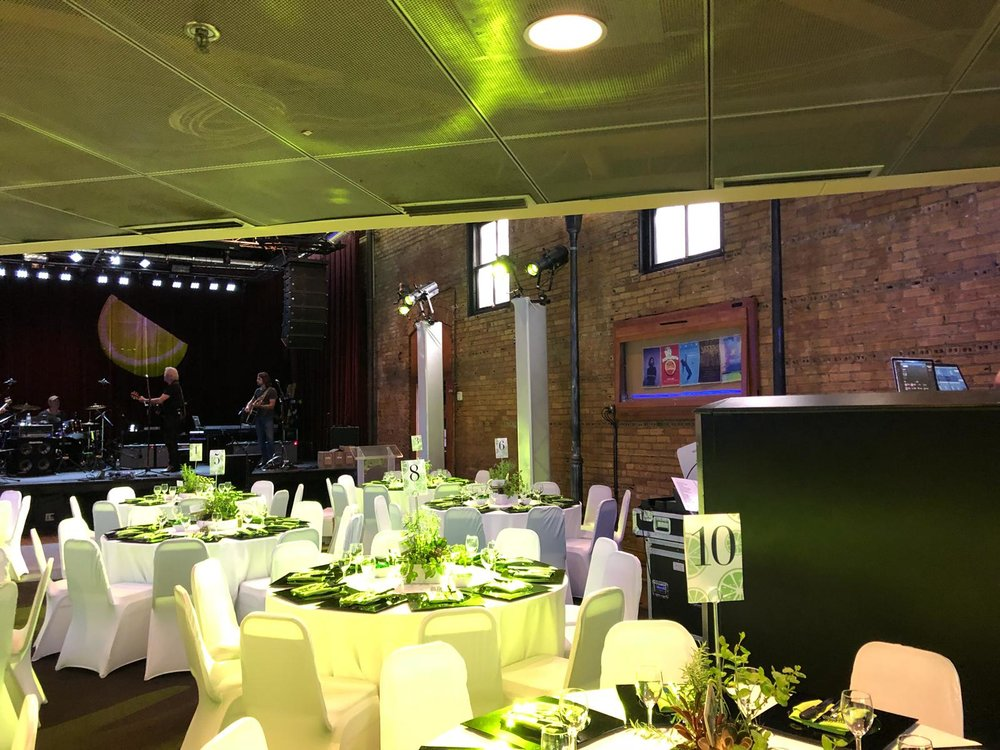 Picture of AV for You decor lighting rental at the Fine Line Music Cafe in Minneapolis