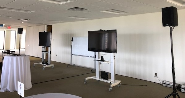 Picture of AV for You audio rental equipment at Code 42 in Minneapolis
