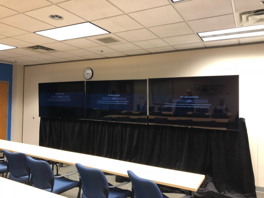 Picture of AV for You TV rental equipment at the St. Croix Sheriff's office in Hudson, WI