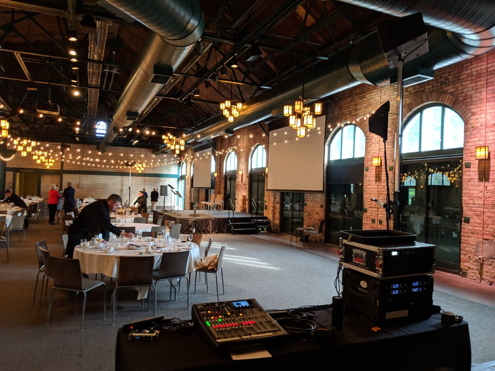 Picture of AV for You audio equipment rental at Nicollet Island Pavilion in Minneapolis
