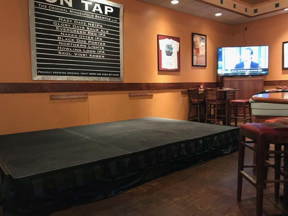 Picture of AV for You stage rental at the Rock Bottom Brewery in Minneapolis