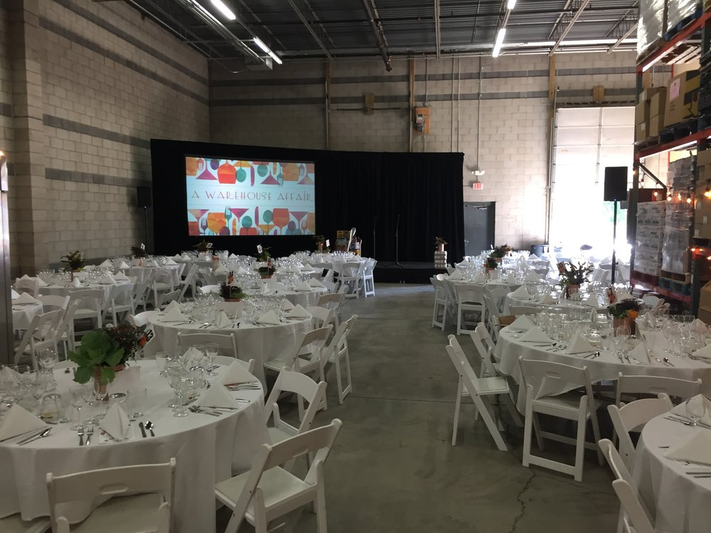 Picture of AV for You equipment rental for Loaves and Fishes annual gala fundraiser