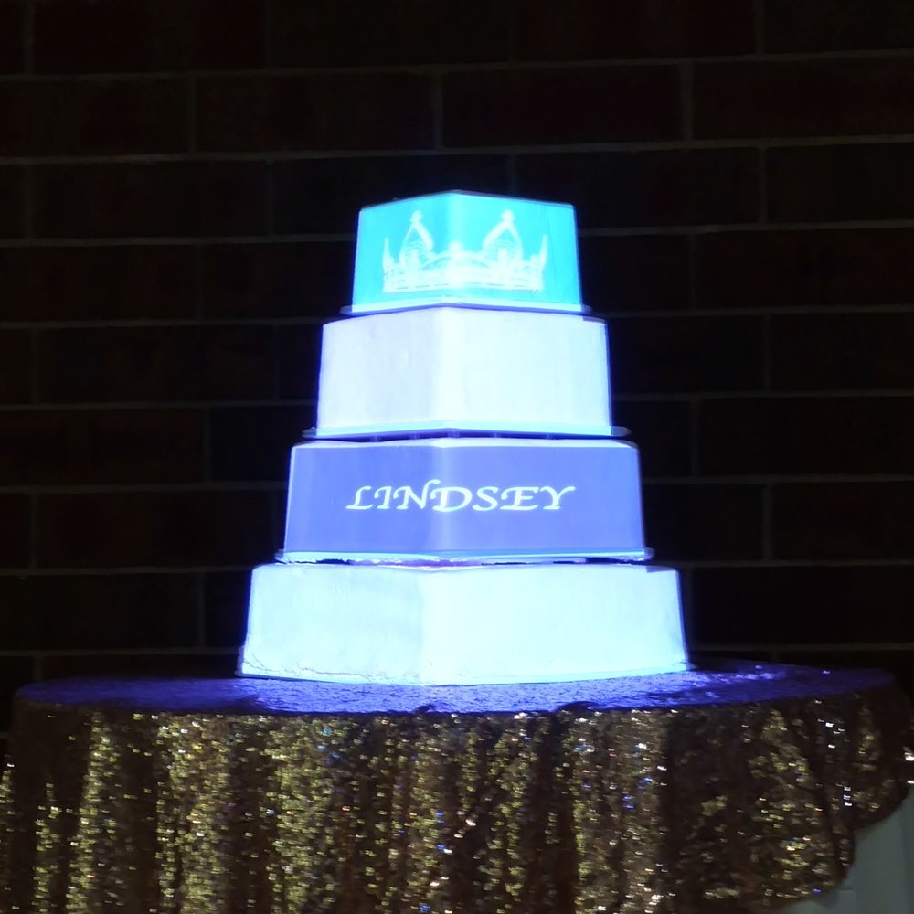 Picture of AV for You projector mapping on a cake