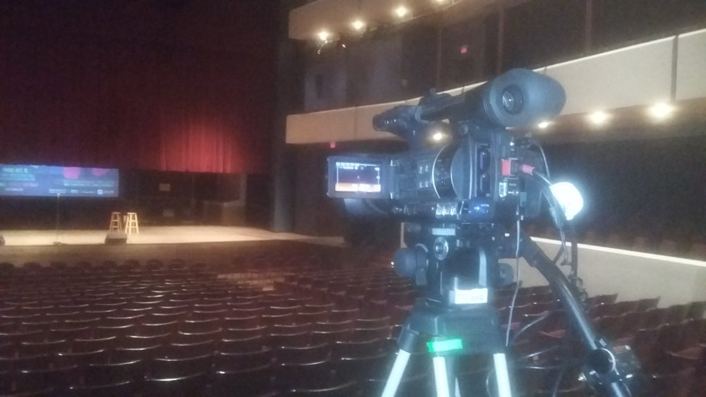Picture of AV for You camera rental in the Ted Mann Theater on the U of MN campus Twin Cities