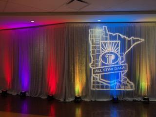 Picture of AV for You lighting rental equipment at US Bank Stadium