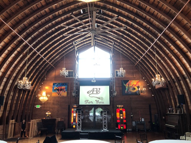 Picture of AV for You rental equipment at Green Acres Event Center in Eden Prairie