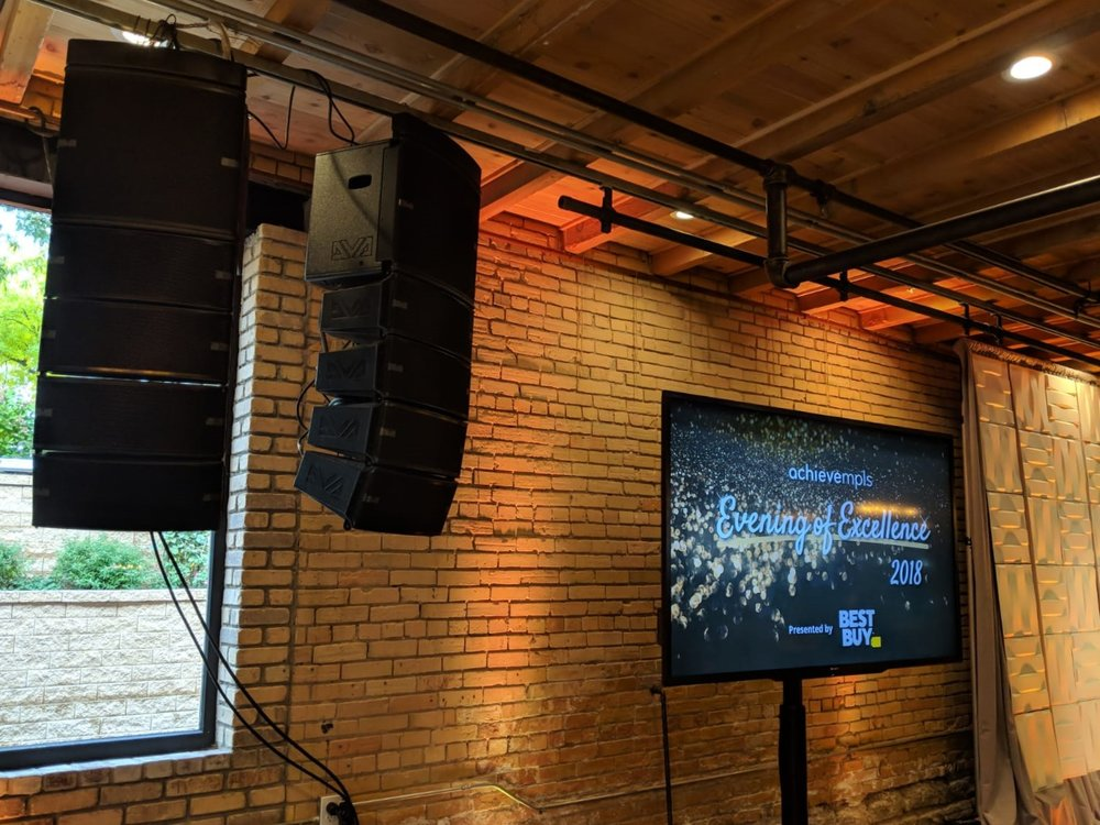Picture of AV for You rental equipment at the Minneapolis Event Center