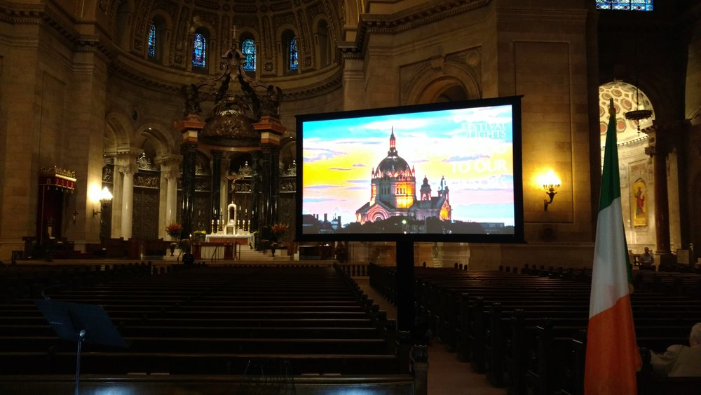 Picture of AV for You rental equipment at the St Paul Cathedral