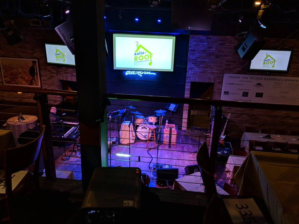 Picture of AV for You projector rental equipment at the Dakota Jazz Club in Minneapolis