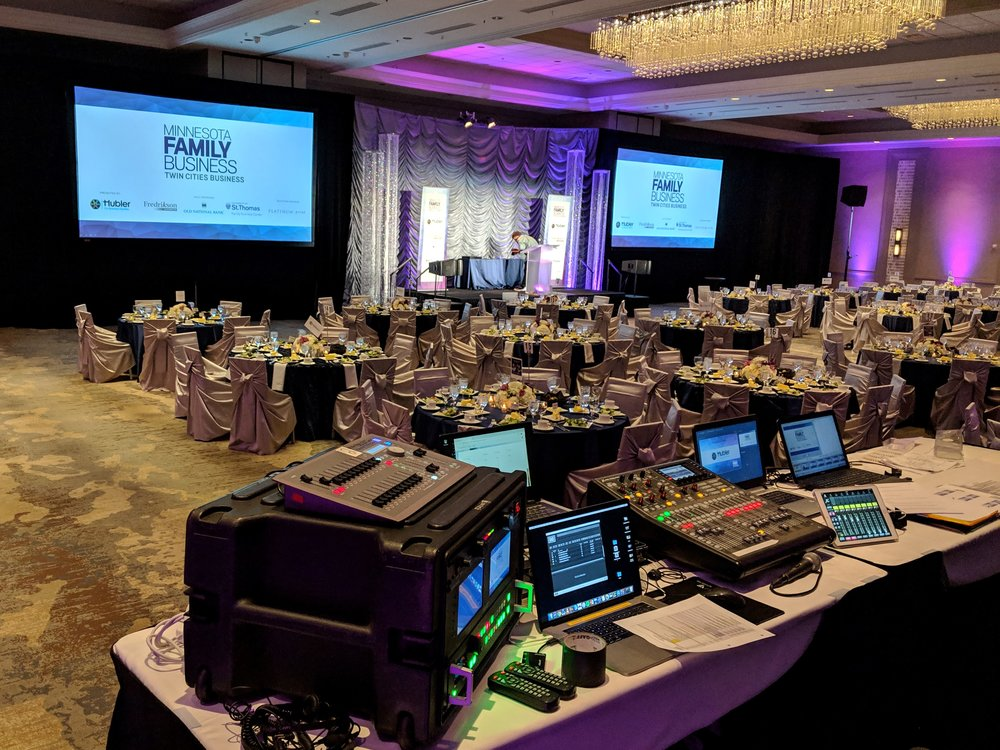 Picture of AV for You rental equipment at the Hilton Minneapolis