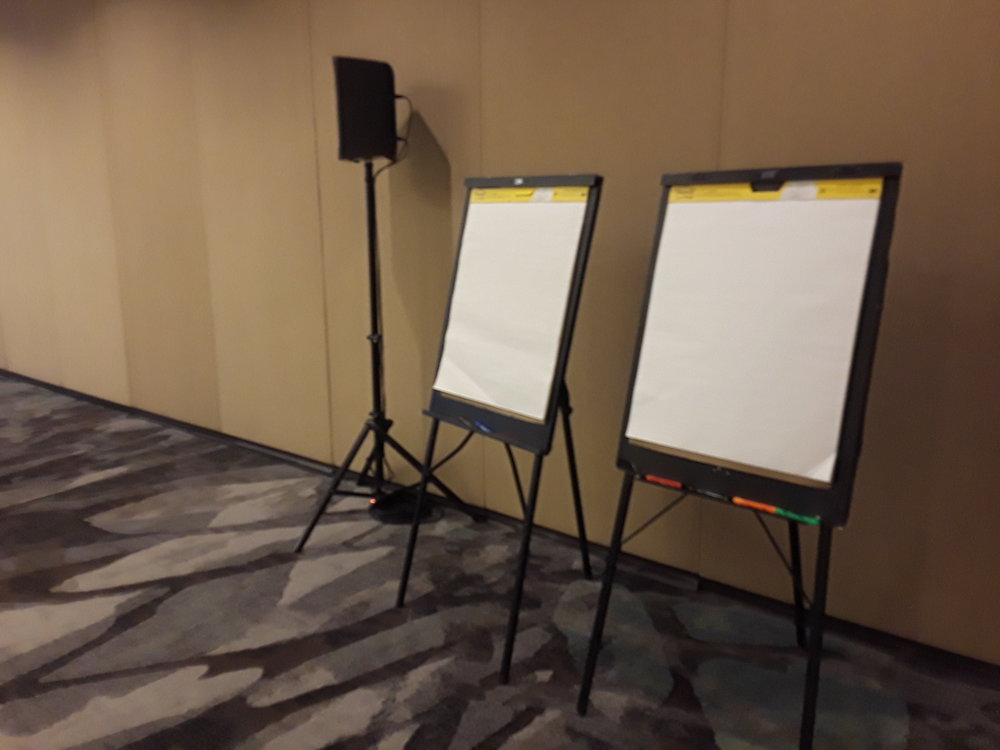Picture of AV for You flip chart rental at the Marriott in Bloomington, MN