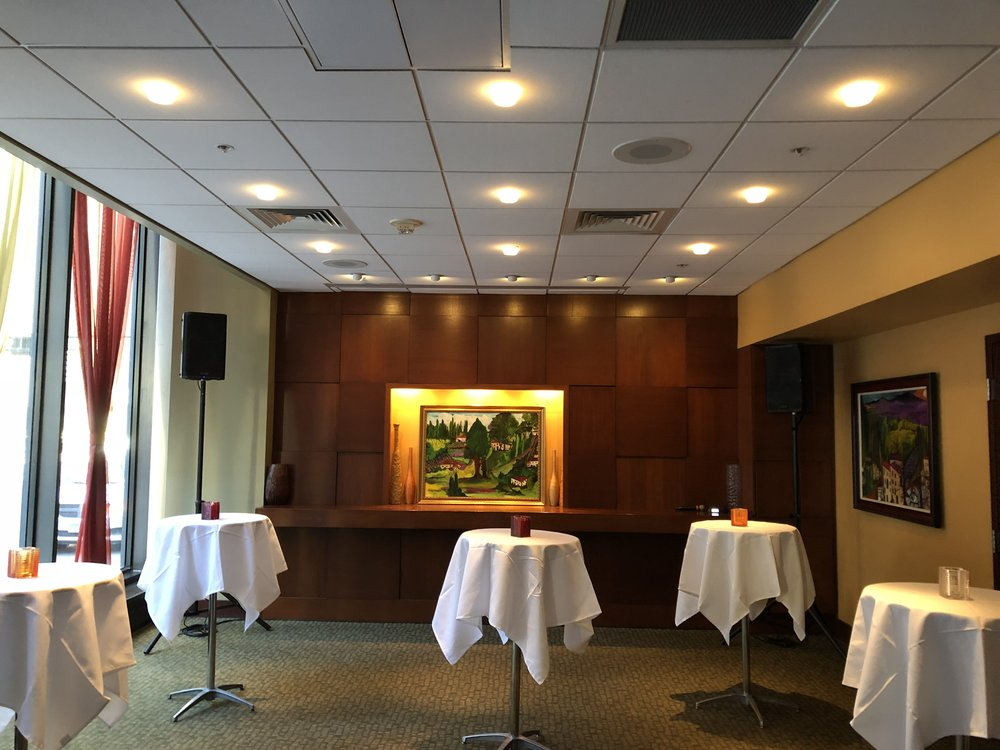 Picture of AV for You speaker and microphone rental at Mission American Kitchen