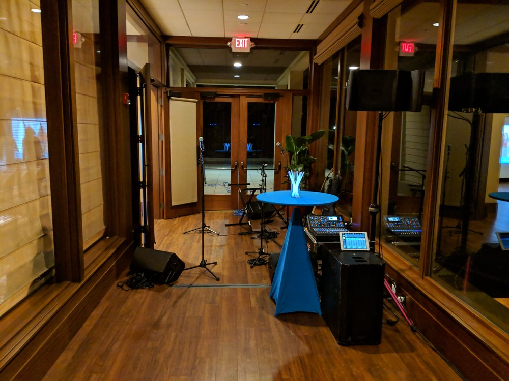 Picture of AV for You audio rental equipment at the Oak Ridge Country Club