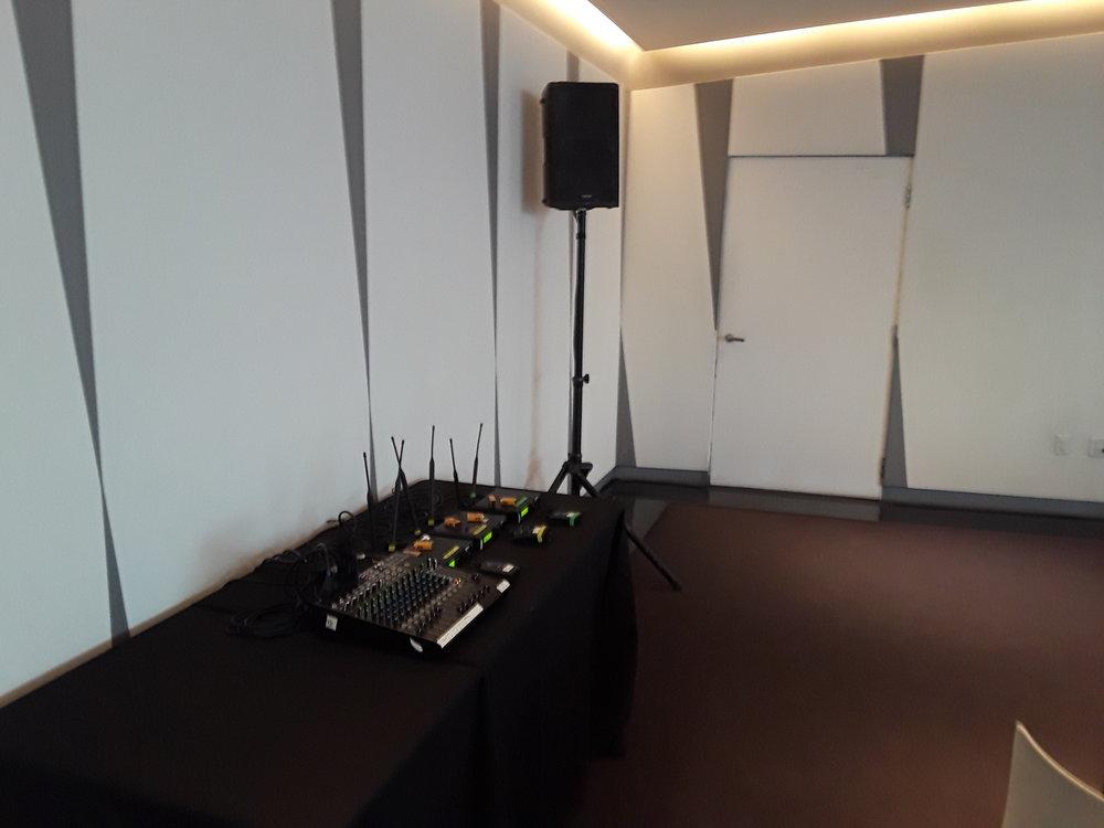 Picture of AV for You rental equipment at the Walker Art Center in Minneapolis