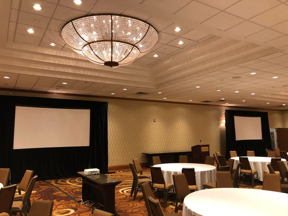 Picture of AV for You projector and screen rental at the Sheraton Minneapolis West Hotel