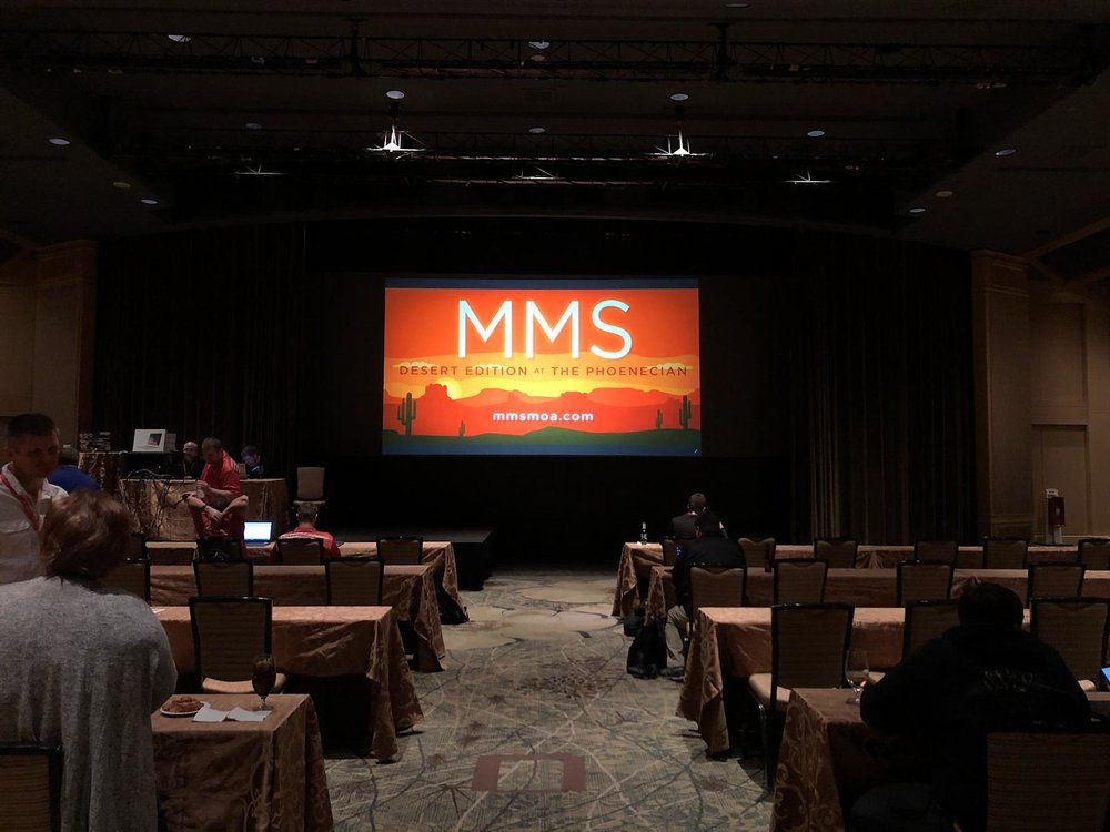 Picture of AV for You rental equipment for Midwest Management Summit - Desert Edition