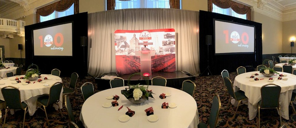 Picture of AV for You rental equipment at the St Paul Athletic Club
