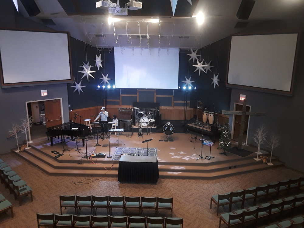 Picture of AV for You rental equipment at the Evangelical Free Church in Maplewood