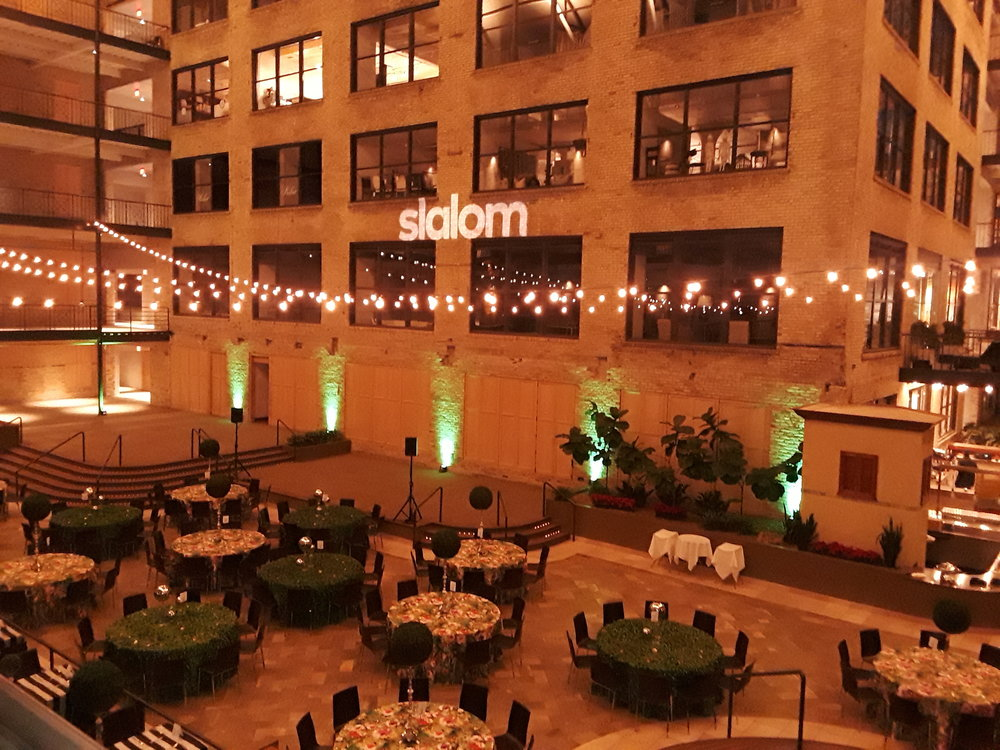 Picture of AV for You lighting rental equipment at the International Market Square in Mpls