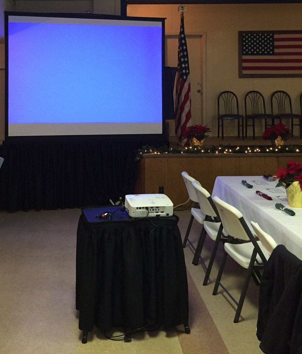 Picture of AV for You rental equipment at the American Legion in Waconia