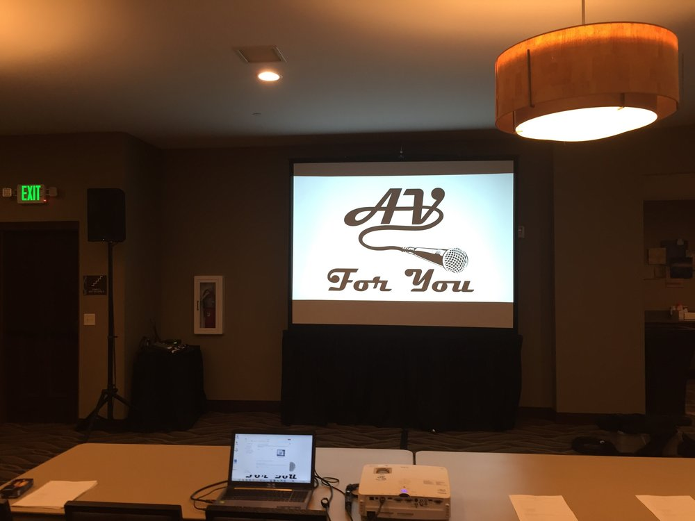 Picture of AV for You rental equipment at the Promenade of Wayzata