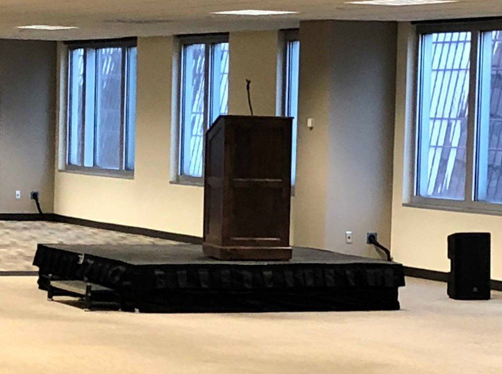 Picture of AV for You stage and podium rental at SPS Commerce in Minneapolis