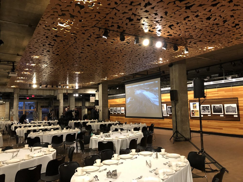 Picture of AV for You rental equipment at the Mill City Museum in Minneapolis