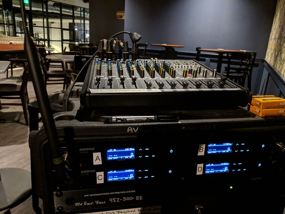 Picture of AV for You Audio Rental Equipment at Finnegan's Brewery in Minneapolis