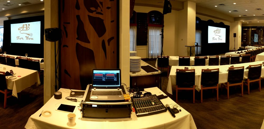Picture of AV for You rental equipment for an Event at Fogo de Chao in Minneapolis