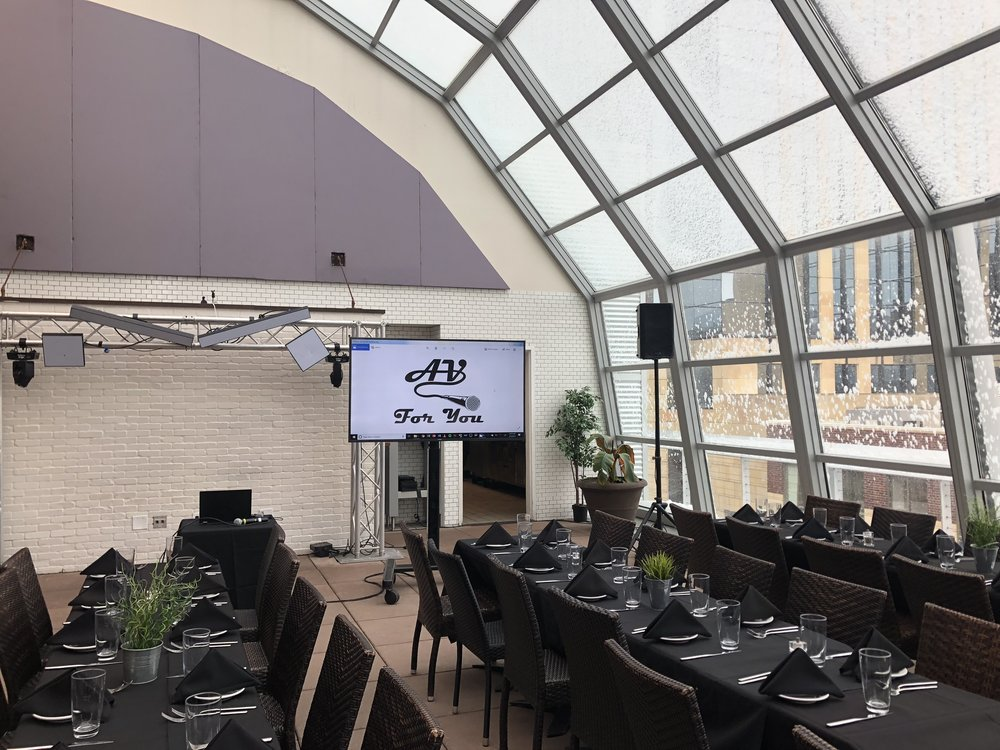 Picture of AV for You Rental Equipment at the Union Restaurant in Downtown Minneapolis