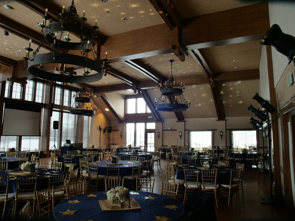 Picture of AV for You lighting rental at the Interlachen Country Club in Minneapolis