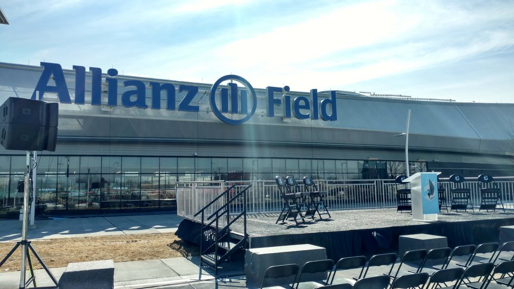 Picture of AV for You Sound Rental Equipment at Allianz Field
