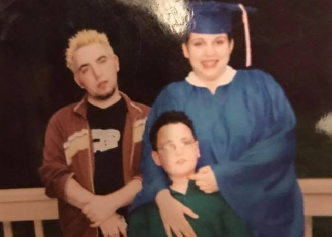 2004, with brother (middle) and sister (right). When bleach blond hair was the coolest.