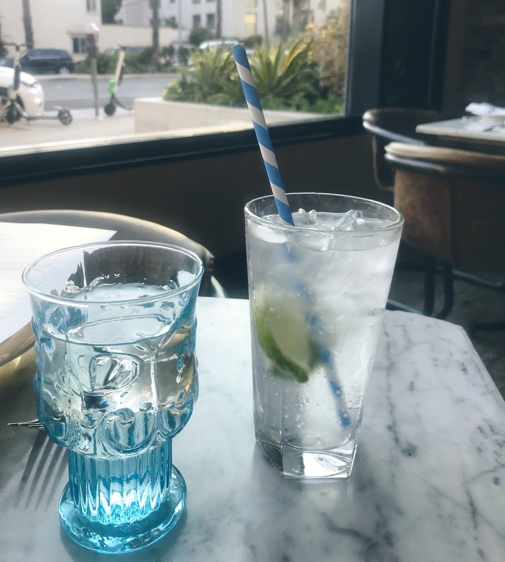 Blue hues and striped paper straws FTW