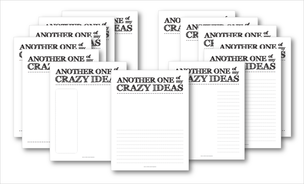 Crazy Ideas: Printable Sketchbook Pages for Creatives